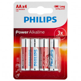 Philips LR06 AA Alkaline Batteries Pack of 4