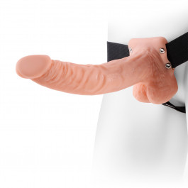 Fetish Fantasy Hollow Strap-on with Scrotum  23 cm