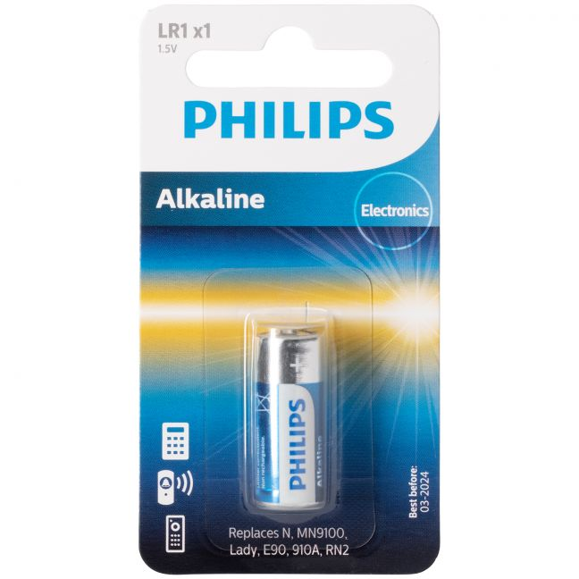 Philips Alkaline LR1 1.5V Battery