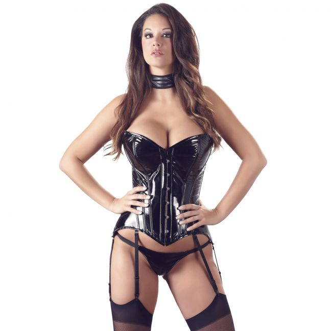 Black Level Lacquer Corsage with Garters