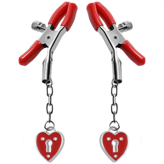 Master Series Captive Heart Nipple Clamps