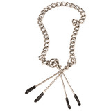 Tweezer Adjustable Nipple Clamps with Chain