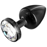 Diogol Anni Black T3 Crystal Butt Plug 35 mm