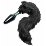Tailz Midnight Fox Tail Glass Butt Plug