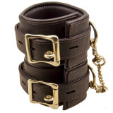 Bound Leather Wrist Cuffs