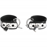 Rimba Ankle Cuffs in Leather and Metal with Padlock