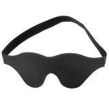 Spartacus Leather Blindfold with Faux Fur