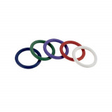 Spartacus Rainbow Cock Rings Set of 5