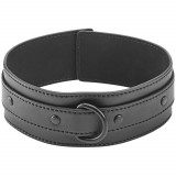 Obaie Imitation Leather Collar with D-Ring