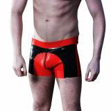 Mister B Saddle Rubber Shorts Red