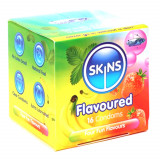 Skins Assorted Flavoured Condoms 16 Pack