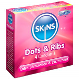Skins Dots & Ribs Condoms 4 Pack