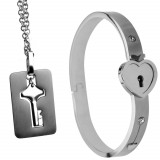 Master Series Bracelet with Lock and Key Necklace