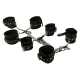 Zado Metal Chain Set with Leather Cuffs