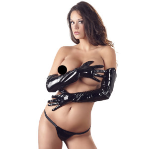 Black Level Long Lacquer Gloves