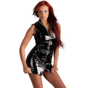Black Level Short Lacquer Dress