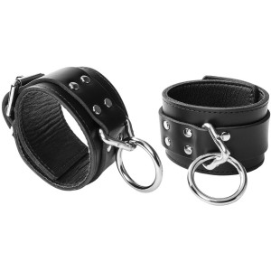 Spartacus Locking Leather Ankle Cuffs