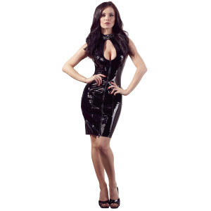 Black Level Lacquer Dress with Lace