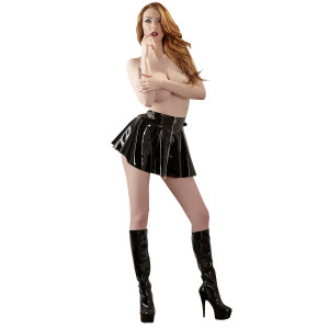 Black Level Mini Lacquer Skirt