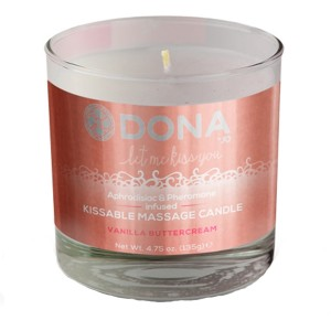 Dona Kissable Massage Candle with Flavour 135 gr