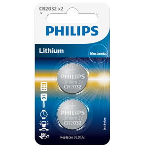 Philips CR2032 Alkaline Batteries Pack of 2