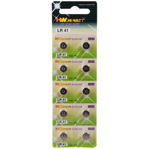 Hi-Watt Alkaline Batteries AG3 - LR41 10 pcs