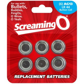 Screaming O Batteries AG13 LR44 6 pcs