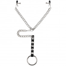 Spartacus Cock Ring with Nipple Clamps product packaging image 1