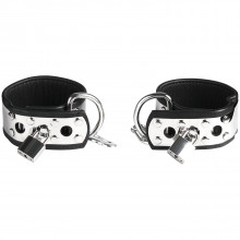 Rimba Ankle Cuffs in Leather and Metal with Padlock product image 1