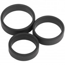 Sinful Premium Silicone Cock Ring Set of 3  1