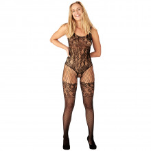 Nortie Astrid Crotchless Lace Catsuit  1