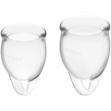 Fun Factory Fun Cup Menstruation Cup 2-pack A and B product packaging image 1