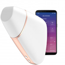 Satisfyer Love Triangle App-controlled White Clitoral Stimulator Product picture with app 1