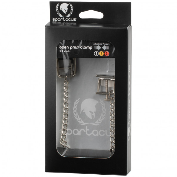 Spartacus Press Nipple Clamps with Chain product packaging image 90
