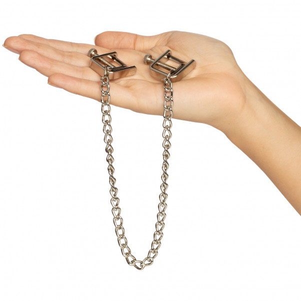 Spartacus Press Nipple Clamps with Chain product packaging image 50