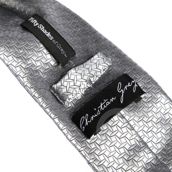 Fifty Shades of Grey Silver Tie  3