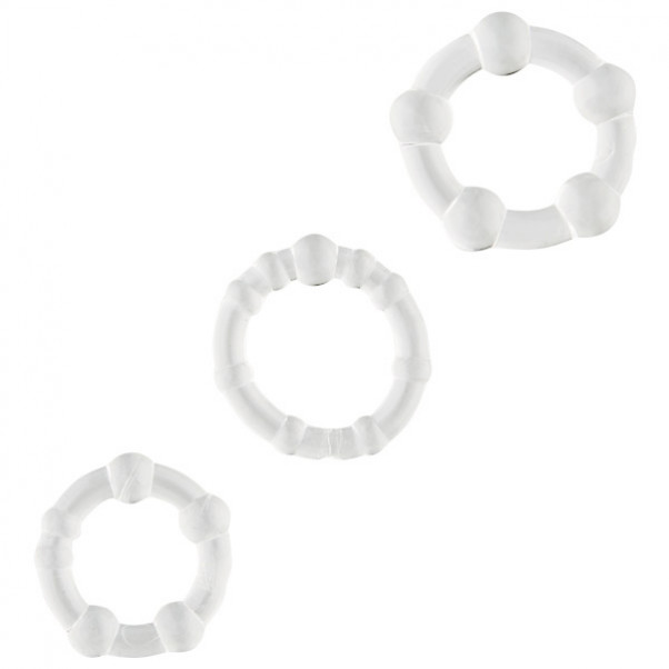 Sinful Transparent Cock Ring Set of 3