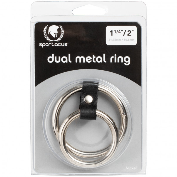 Spartacus Double Metal Cock Ring product packaging image 90