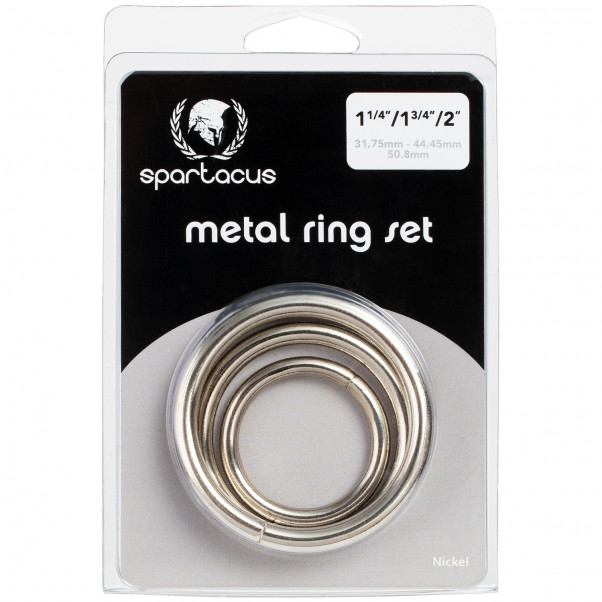Spartacus Metal Cock Ring Pack of 3  product packaging image 90