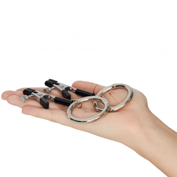 Spartacus Bully Rings Nipple Clamps  product held in hand 50
