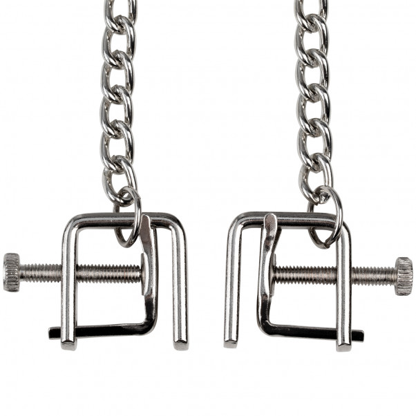 Adjustable C Clamps with Metal Chain product held in hand 3