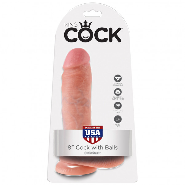 King Cock Realistic Dildo with Scrotum 20 cm