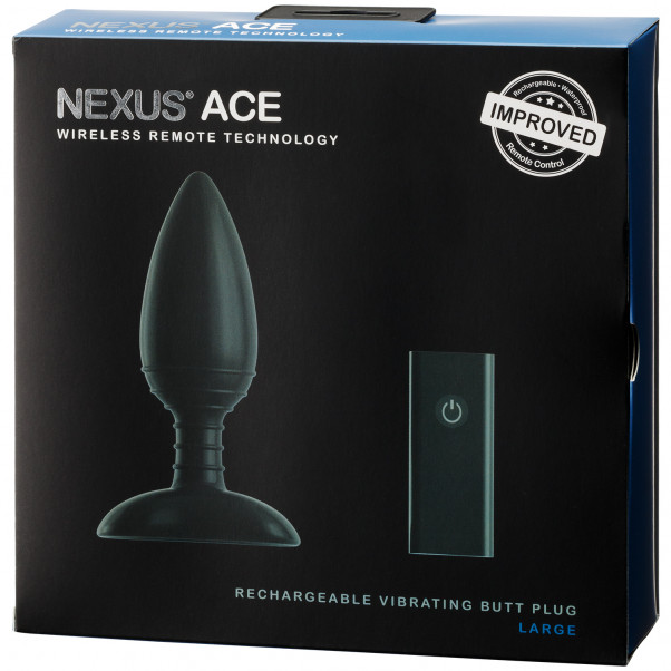 Nexus Ace Rechargeable Remote Controlled Large Anal Vibrator  100