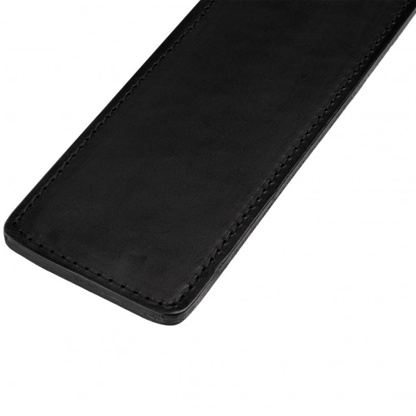 Spartacus Frat Leather Paddle Original product held in hand 2