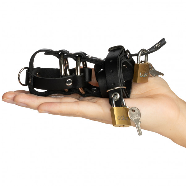 Spartacus Total Chastity Leather Chastity Device product packaging image 50