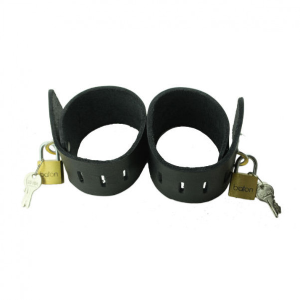 Spartacus Leather Cuffs with Lock